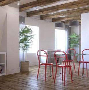 Дизайн интерьера квартиры на мансарде в Вентспилсе