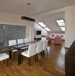 Дизайн интерьера квартиры на мансарде в Риге