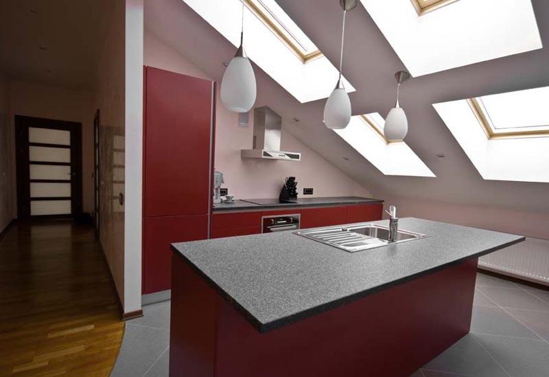 Мансардные кухни дизайн