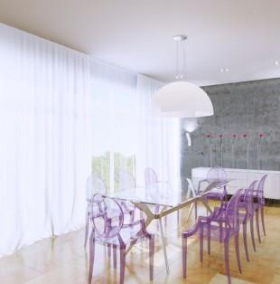 Двухэтажная квартира в стиле минимализм